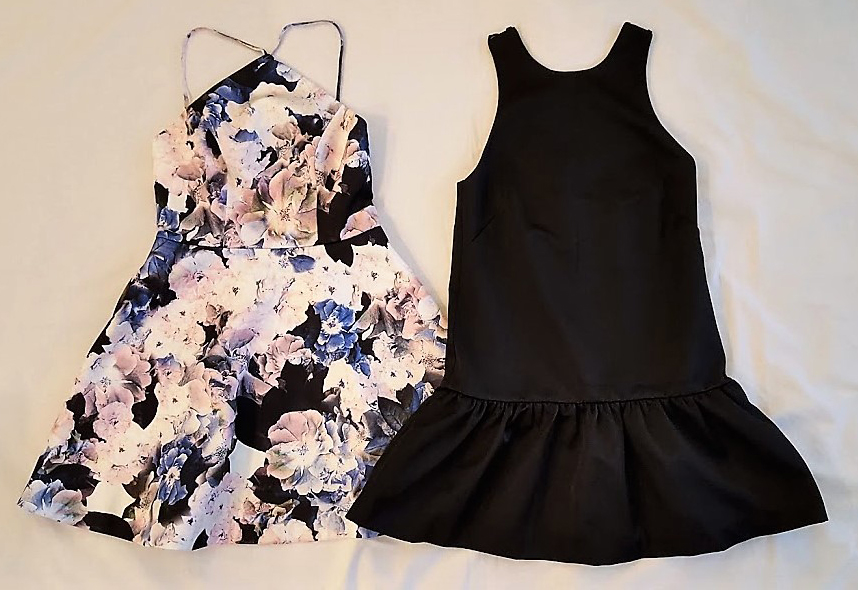 Keepsake the Label and H&M dresses, both new with tag