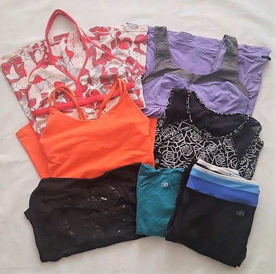 More Lululemon tank tops & ALO Yoga athletic wear