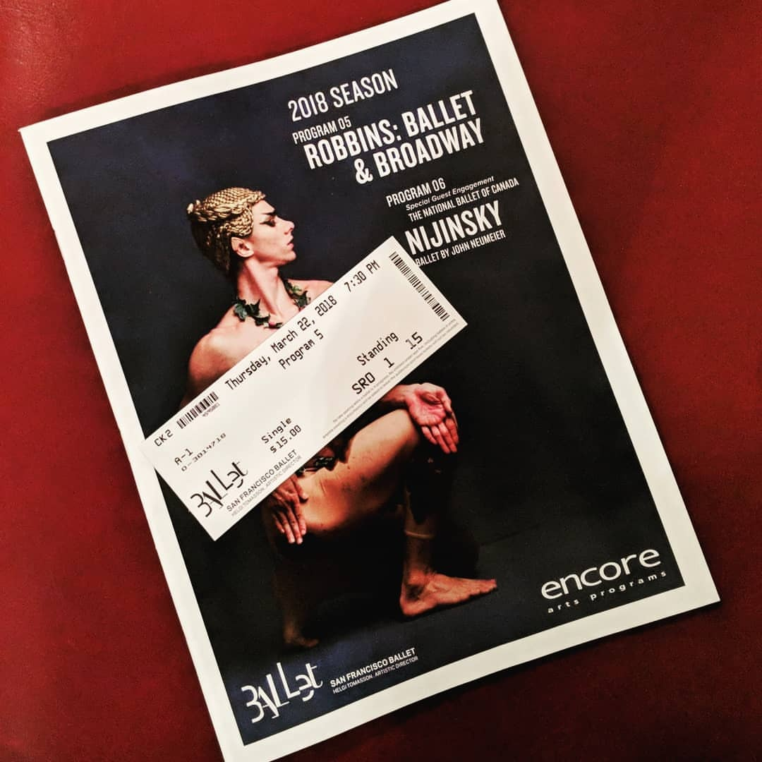 SF Ballet standing room ticket for $15.