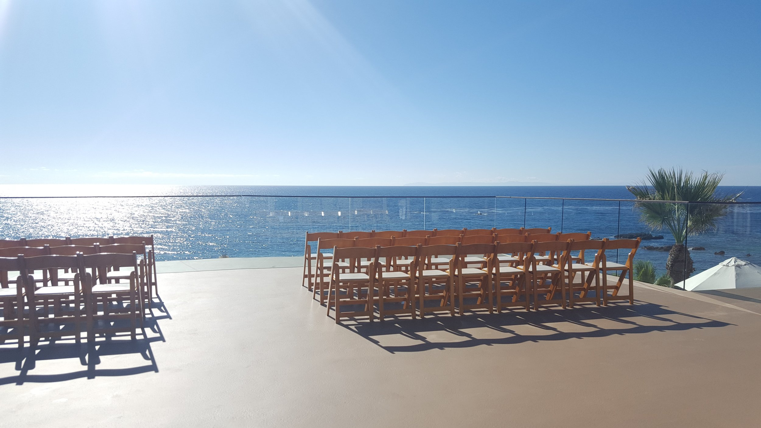 One of the beachfront wedding locations we visited.