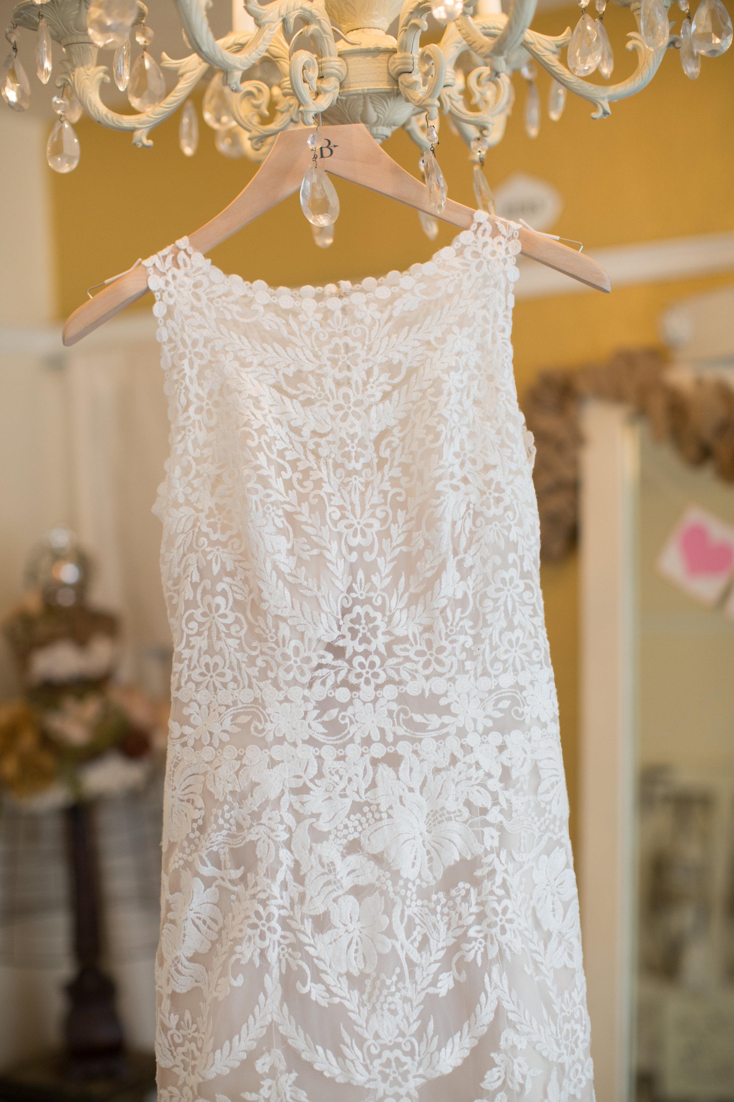 My BHLDN Adalynn wedding dress. Photo by  Ashley Paige Photography