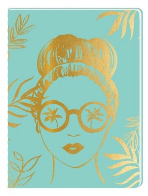 Aqua Sunglasses Girl  journal by Lady Jayne