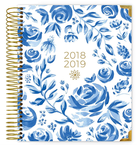 Blue & white floral  by bloom daily planners