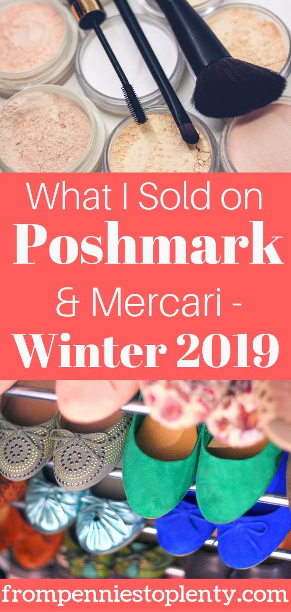 What I Sold on Poshmark & Mercari – Winter 2019