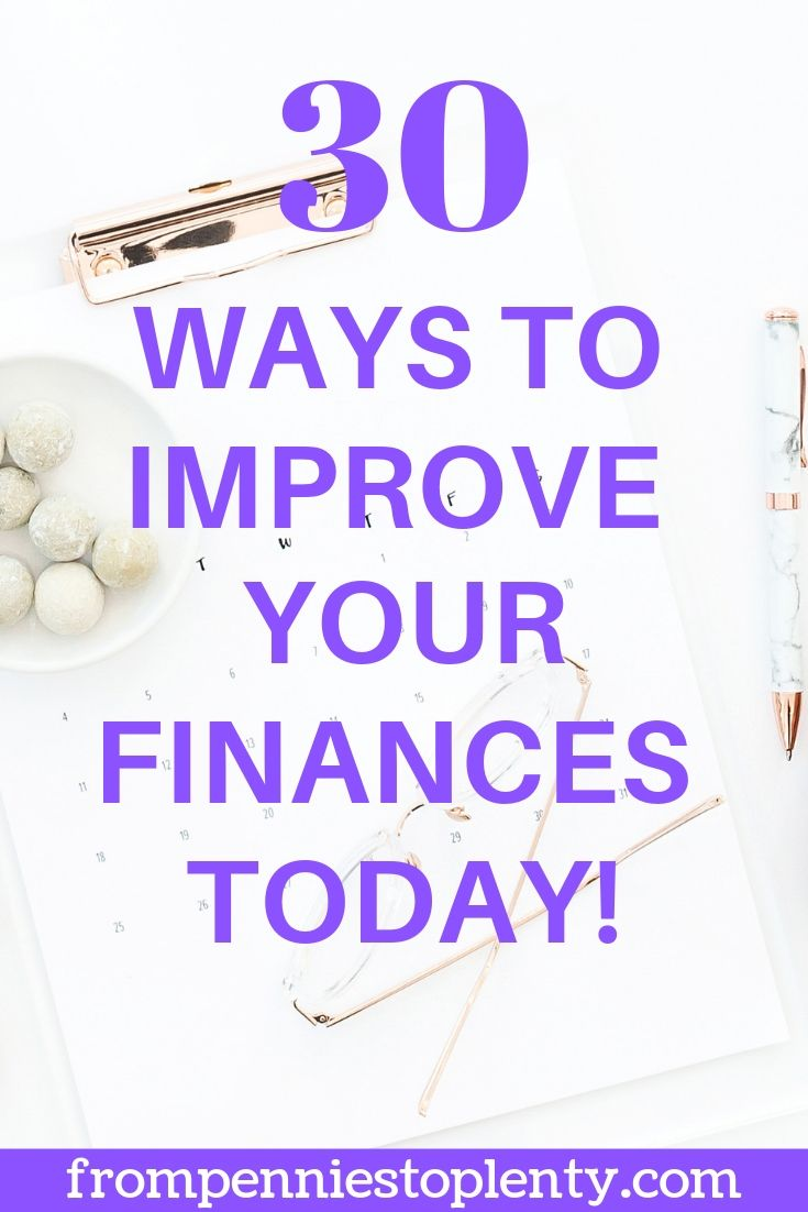 30 ways to improve your finances today
