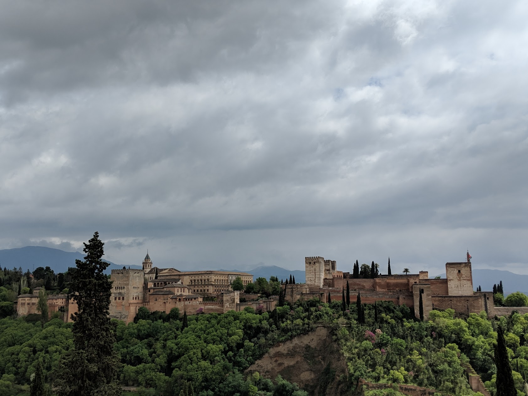 A view of the Alhambra from the nearby Albacin neighborhood.