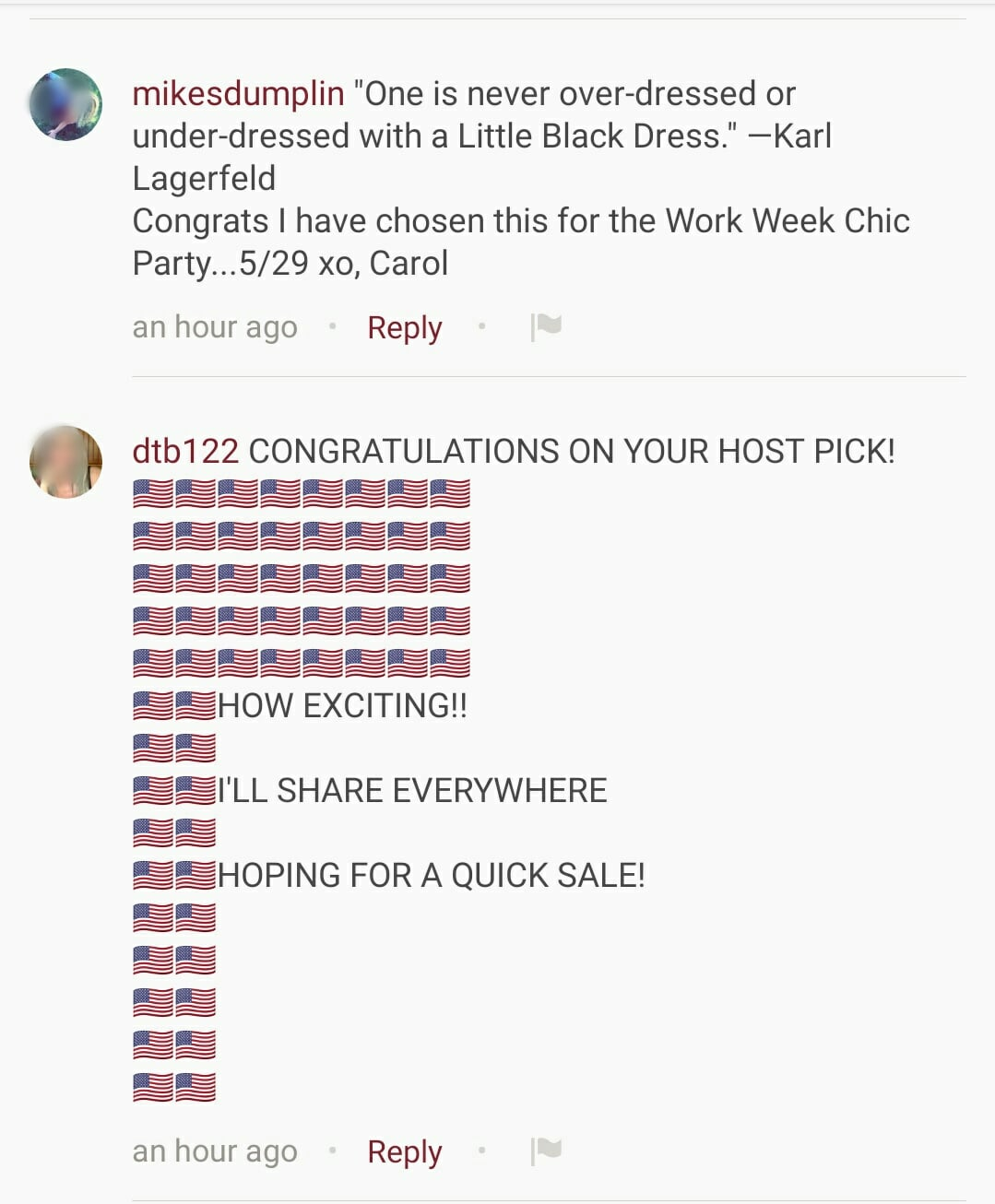 how to host a poshmark party comment.jpg