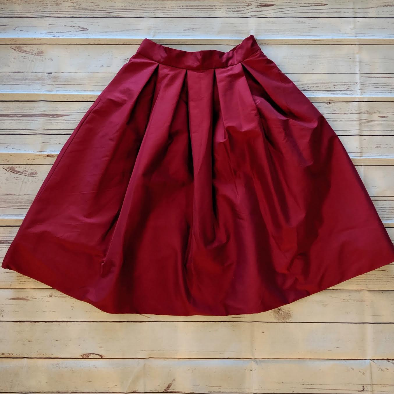White House Black Market cranberry skirt