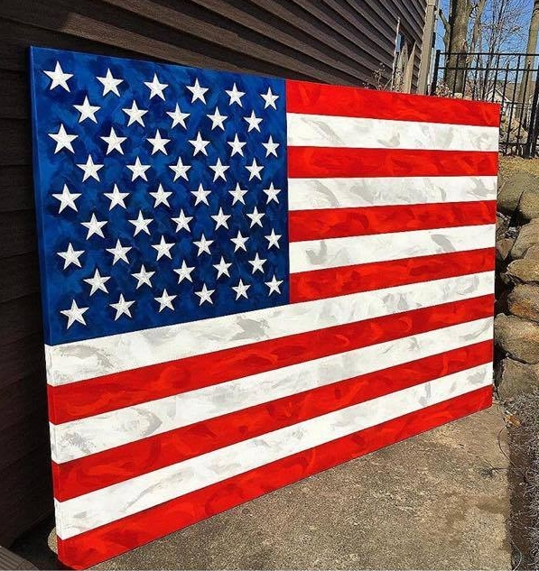 48x72 American Flag located at Bill Walsh Ford in Ottawa Il.