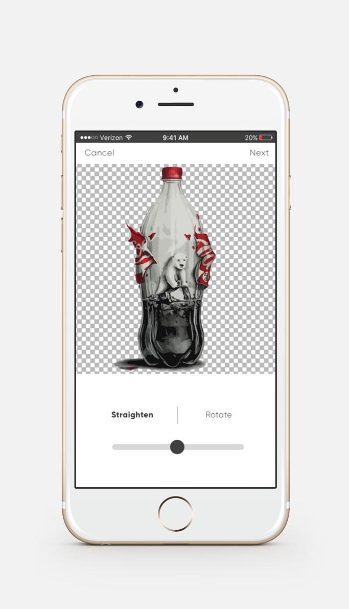 Edit screen 3 where user can tweak their art.
