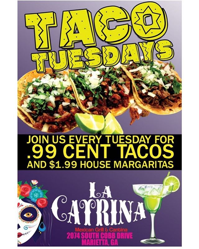 HAPPY TACO TUESDAY EVERYJUAN! Don't miss out on this amazing deal! Come get your mouth watering tacos! #tacos #tuesday #food #tortilla #delicious #asada #carneasada #lengua #chicharron #barbacoa #chorizo #pastor #carnitas
