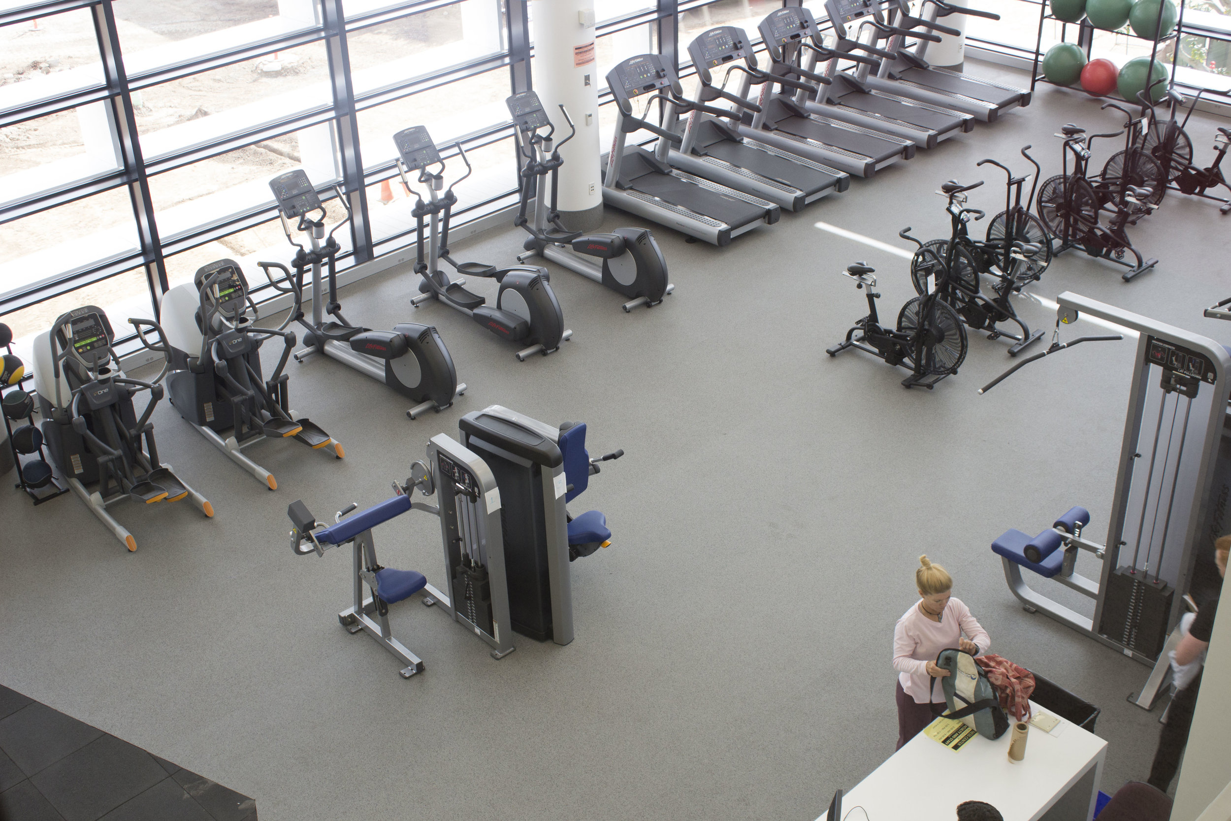The gym in the second floor of the all new Core Performance Center building, at Santa Monica College, Calif. Photo taken on April 3, 2017. Emeline Moquillon, staff photographer