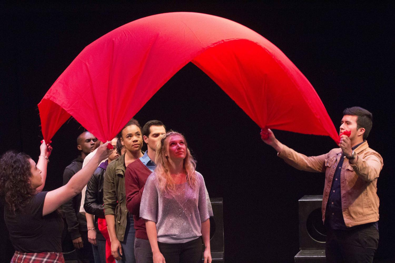 Voices of Hope, a play by Pamela Lassiter Cathey about sexual assault and its consequences for the victims. On Studio Stage Productions/Performances at Santa Monica College, in Santa Monica California. On Friday April 28, 2017. (Emeline Moquillon)