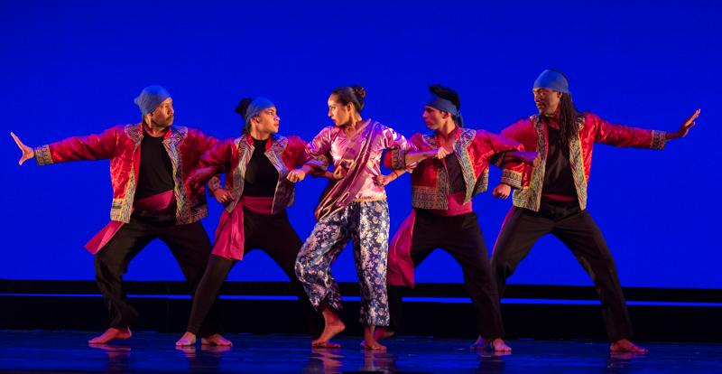 Dancers perform during the rehearsal for Global Motion at the Broad Stage in Santa Monica, California on Wednesday, May 18, 2016. Josue Martinez
