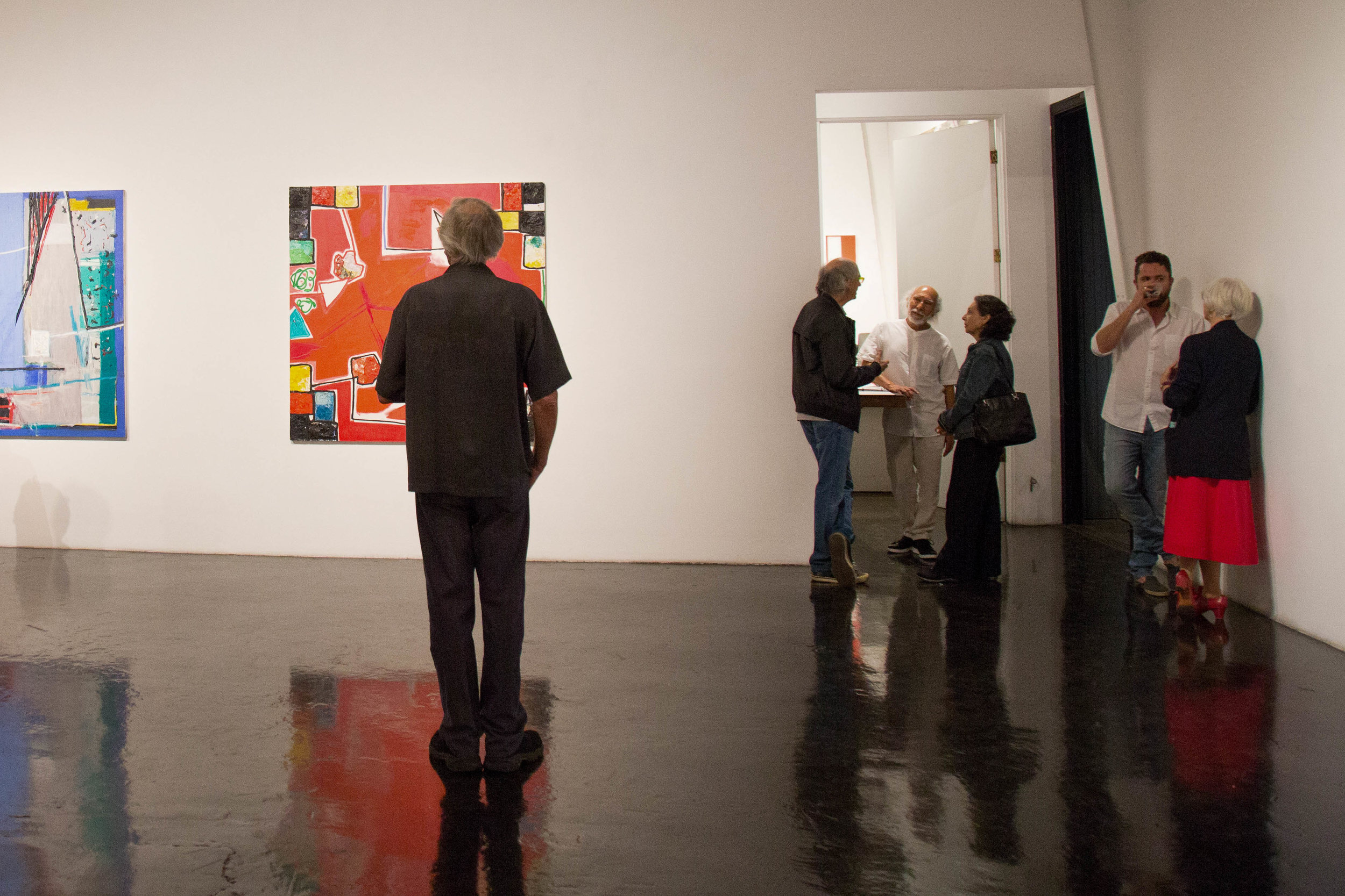 William Turner Gallery held opening reception for an exhibition of recent paintings by San Francisco based artist, Gustavo Ramos Rivera on September 16th, 2017 at Gergamot Station Arts Center. (Yuki Iwamura)
