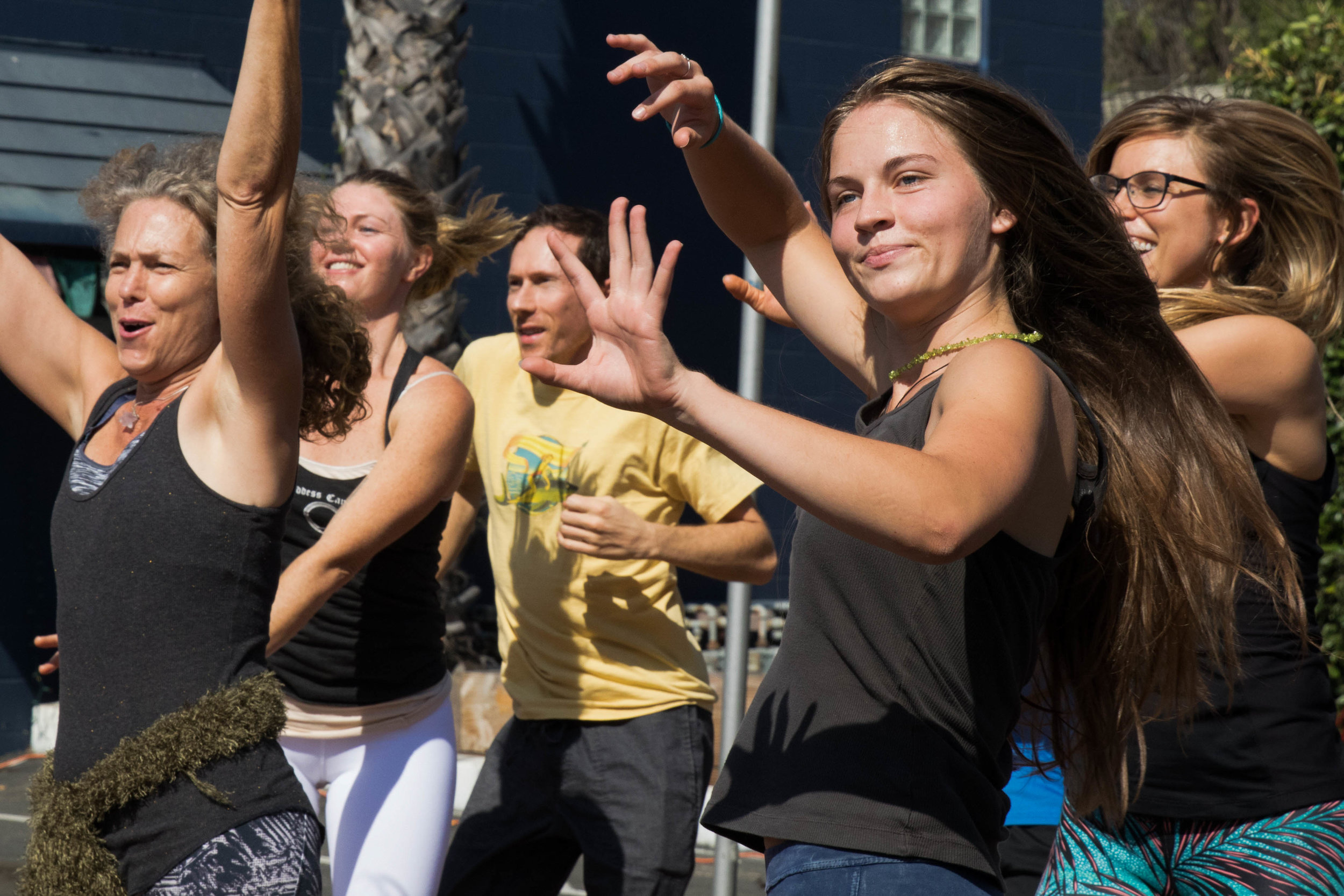 Members of Continuum Studios Dance Alive open up the Pico Block Party with a group dance on October 14, 2017. (Photo By: Zane Meyer-Thornton)