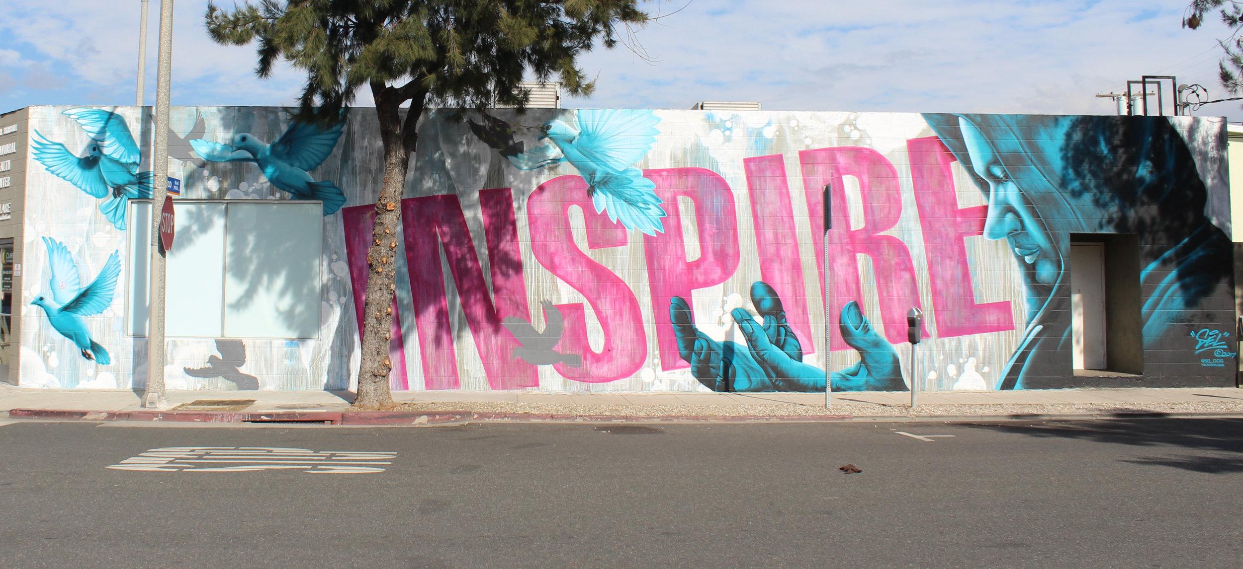 Murals on Pico Blvd show their vibrance in Santa Monica, Calif.