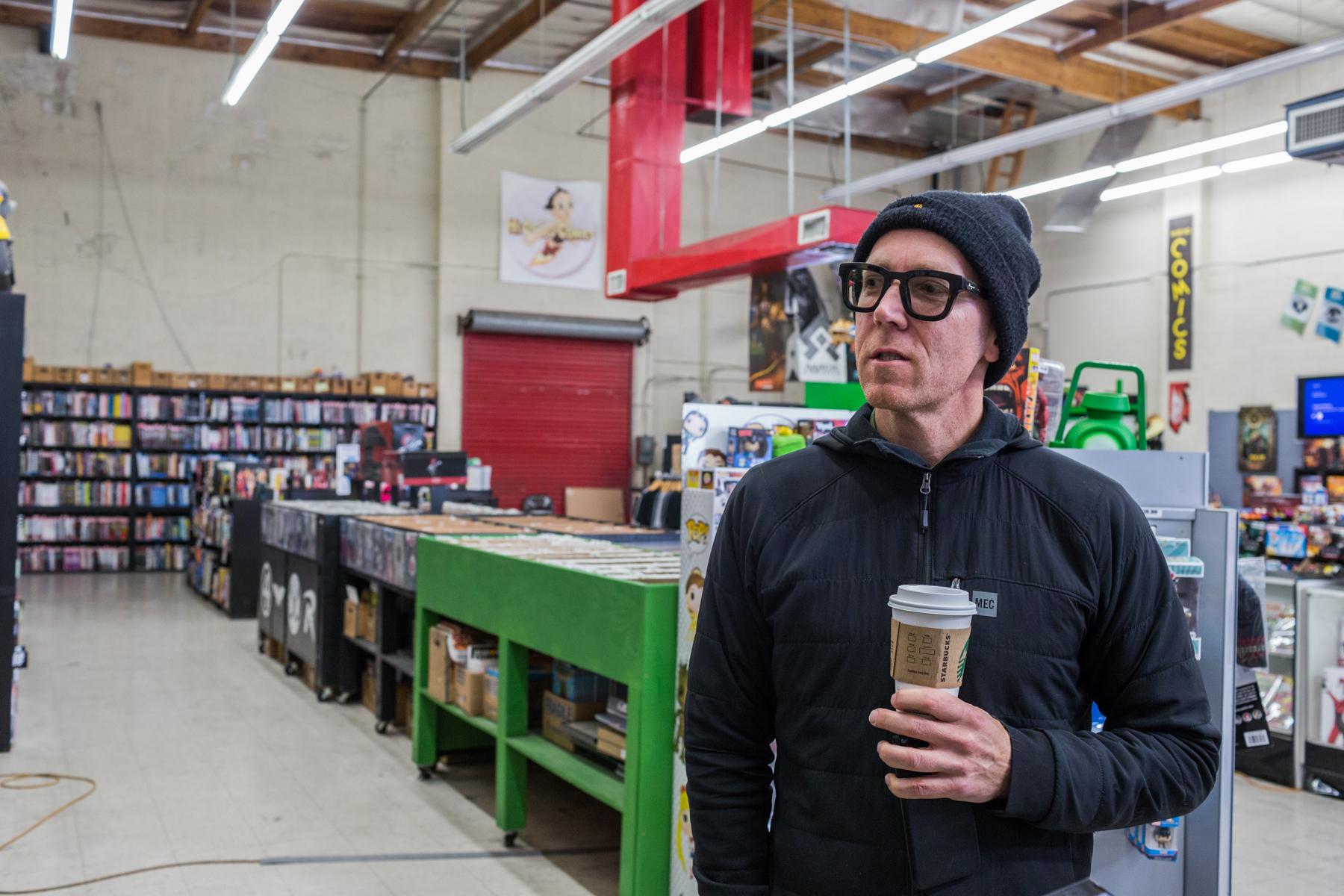 Director Ted Mcneilage browses through the graphic novels and comic books at HI DE HO comics in Santa Monica, CA on Thursday March 1 2018. He and his family have all seen the Black Panther movie and think it's a huge step forward for diversity in film. (Photo by Ruth Iorio)
