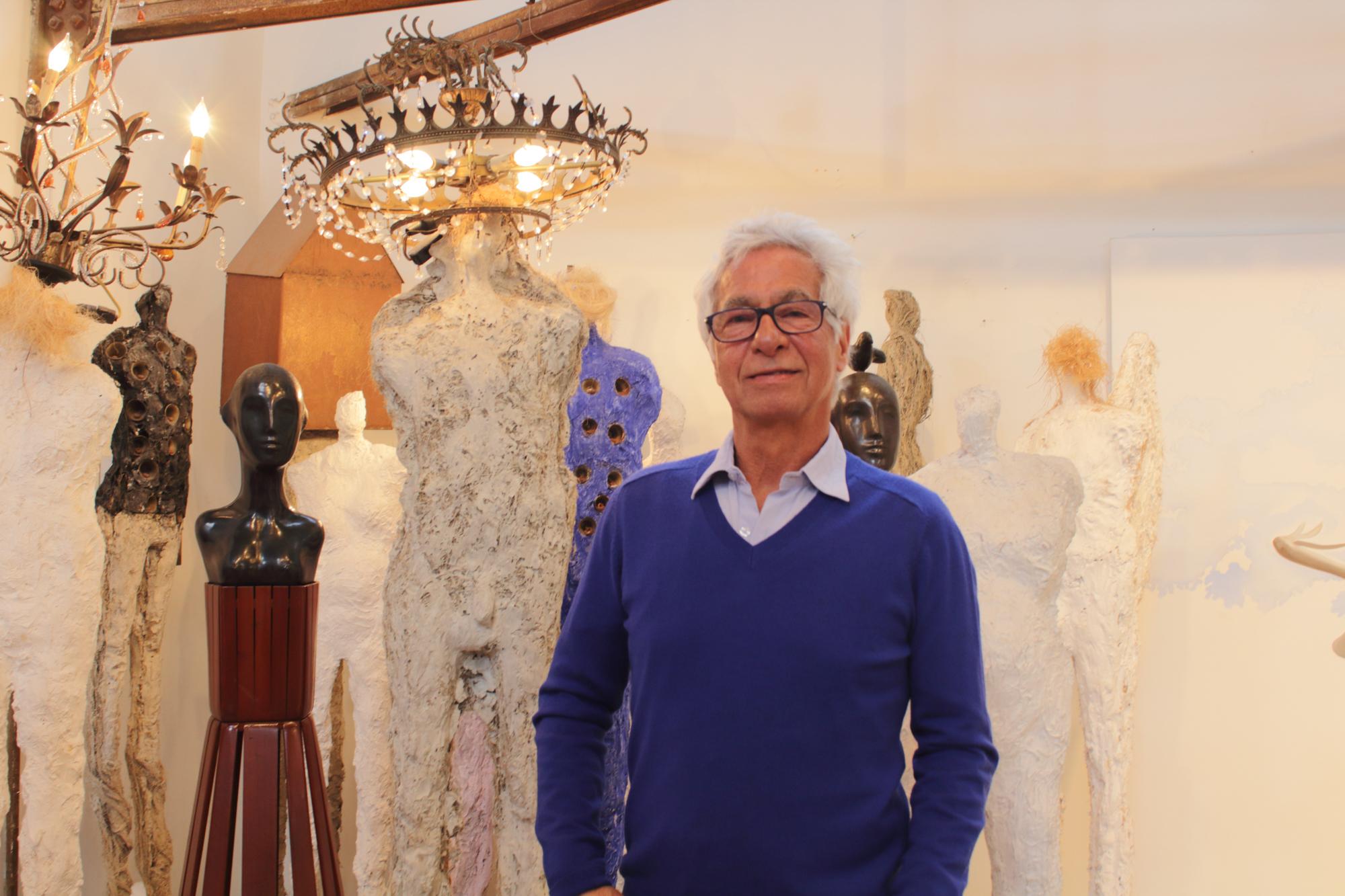 Santa Monica Art Studio Director and sculptor, Yossi Govrin, photographed in his studio located in the Santa Monica Art Studios at the 12 Annual Santa Monica ArtWalk on March 24th, 2018 in Santa Monica, California. (Heather Creamer/ Corsair Photo).