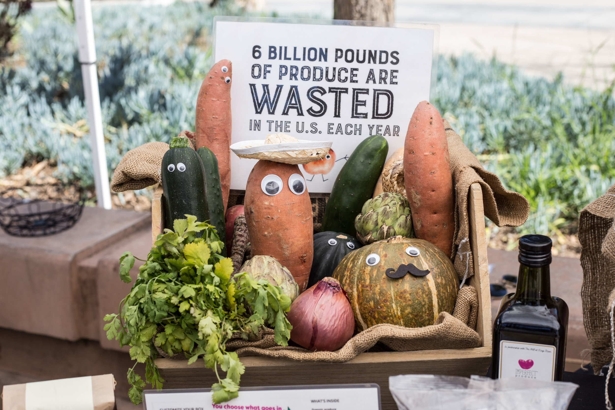 Ugly Produce booth at the Santa Monica Sustainability Fair on Santa Monica College's Main Campus in Santa Monica, California on Tuesday, April 17th 2018. (Fernanda Rivera/Corsair Photo)