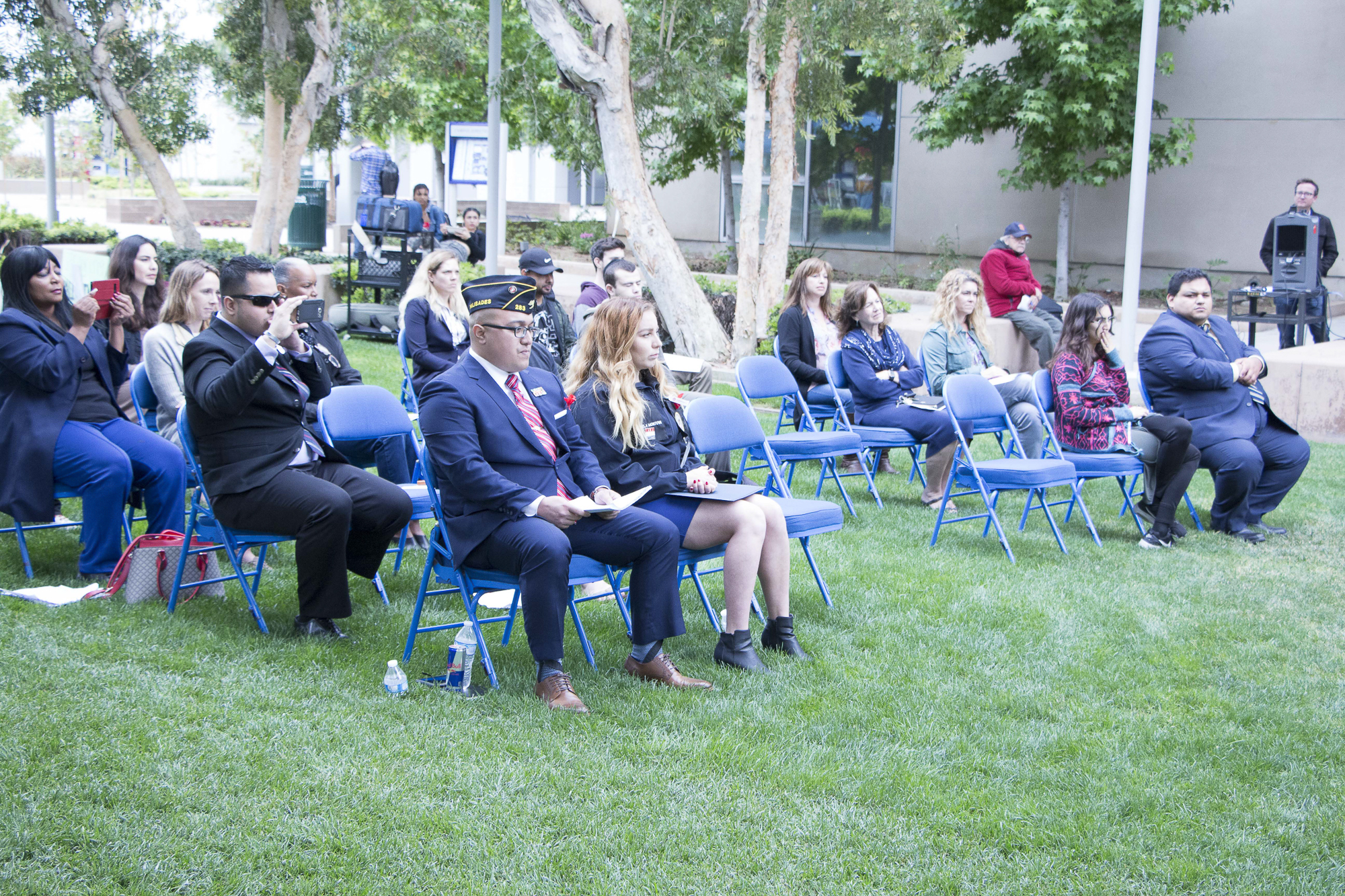 A small number of people attended Santa Monica College's Memorial Day Commemoration to the disappointment of several of those who spoke at the event on Thursday, May 25, 2018 in Santa Monica, California (Wilson Gomez/Corsair Photo)