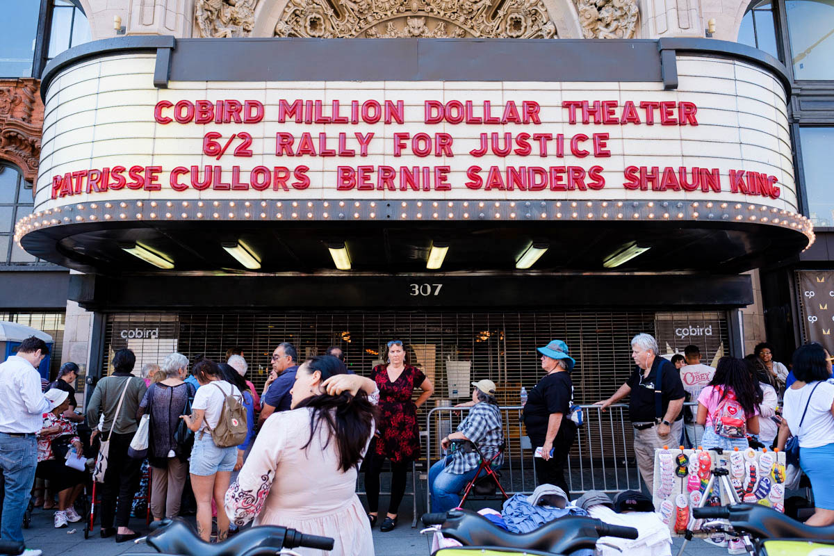 The Rally for Justice was held at the Million Dollar Theater in Downtown Los Angeles, California on Saturday June, 2 2018. Million Dollar Theater donated the space for the cause.(Jayrol San Jose/ Corsair Contributor)