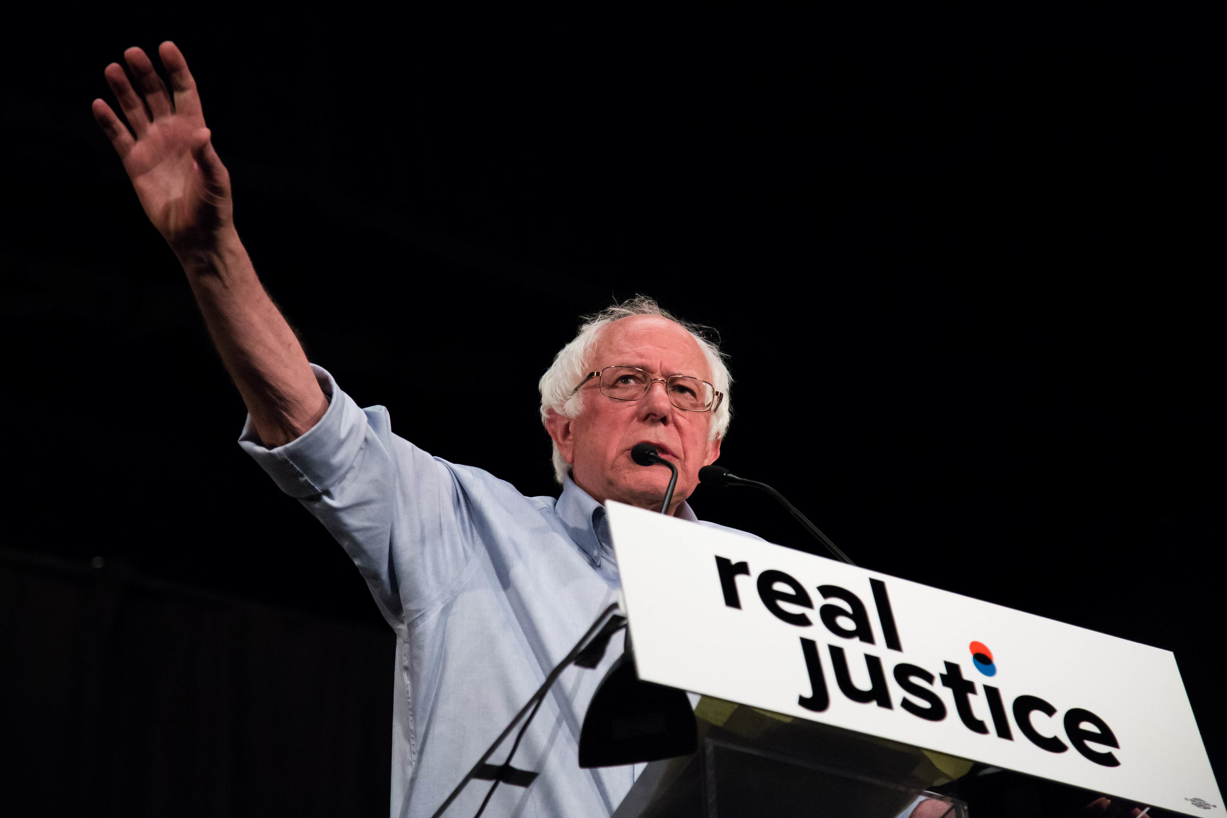 "Senator Bernie Sanders made a speech at the Justice Reform ""How to make change"" on Saturday June 2nd, 2018 at the Million Dollar Theater in Downtown Los Angeles, California. (Yuki Iwamura/Corsair Contributor)"