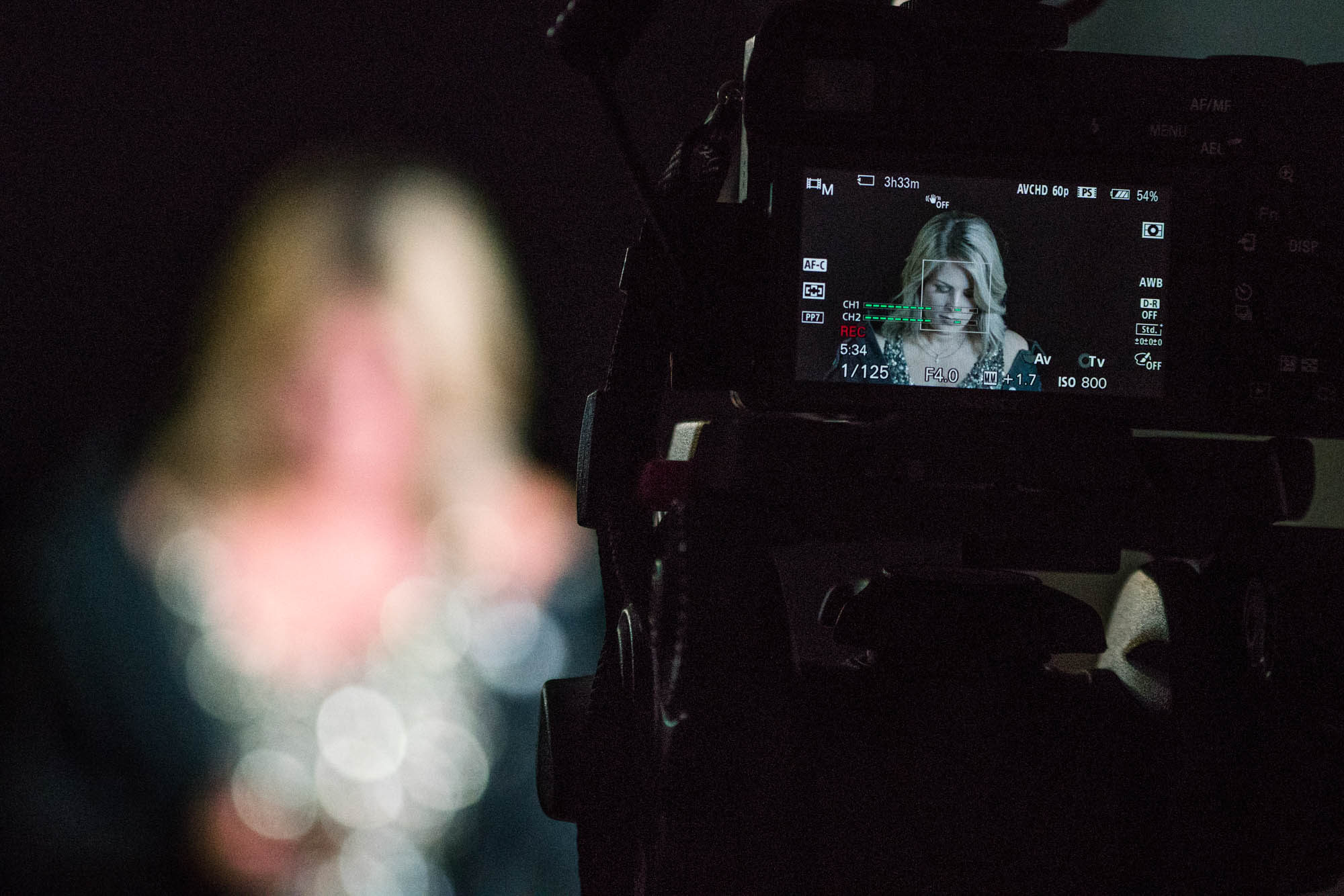 Linda Ekbaeck having her video shoot. Photo by Rea Sohn/Corsair Contributor