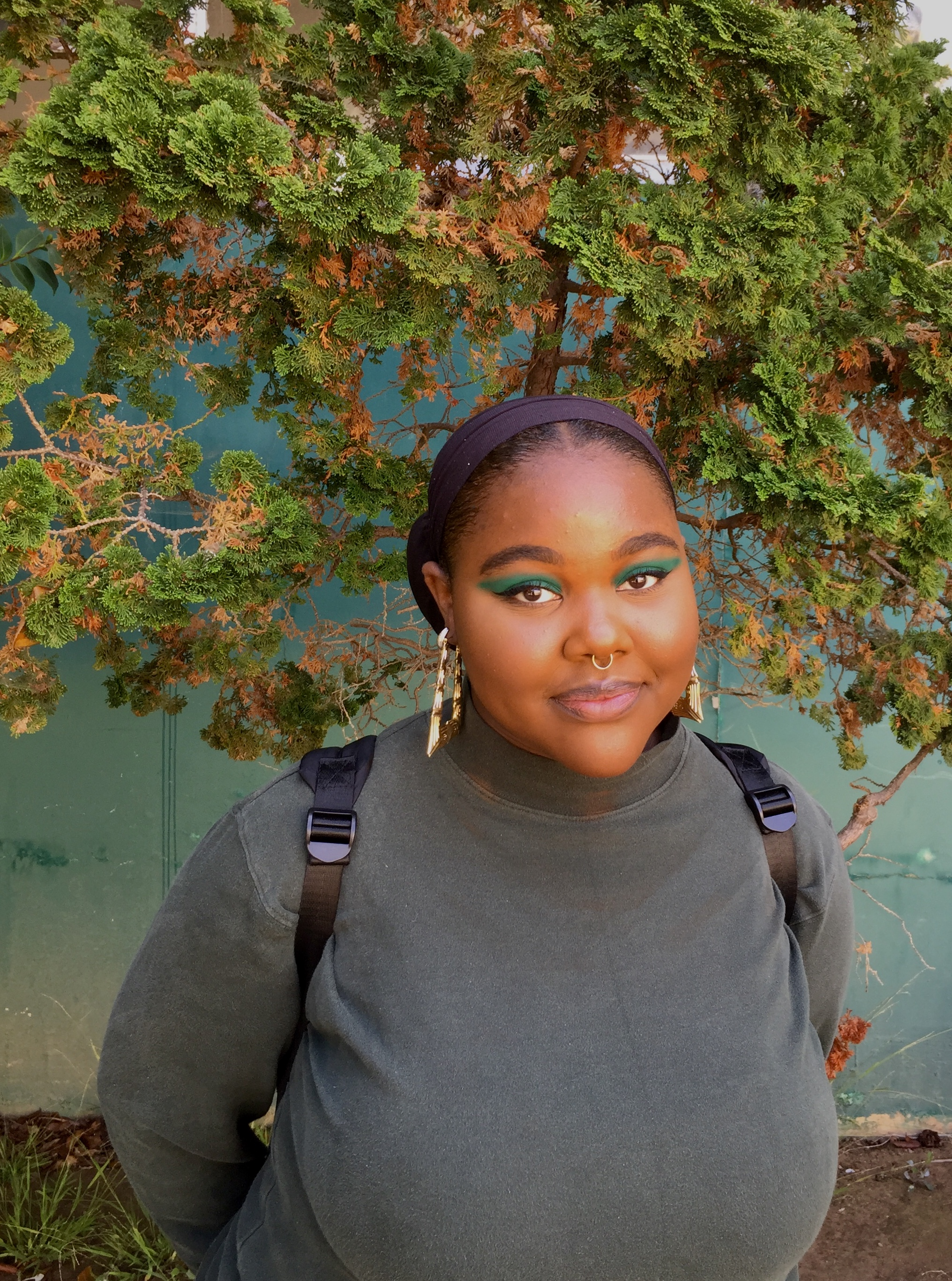 Azell Aneya Lawson poses for her photo at Santa Monica College in Santa Monica, California, on September 11, 2018. (Jazz Boothby/ Corsair Staff)