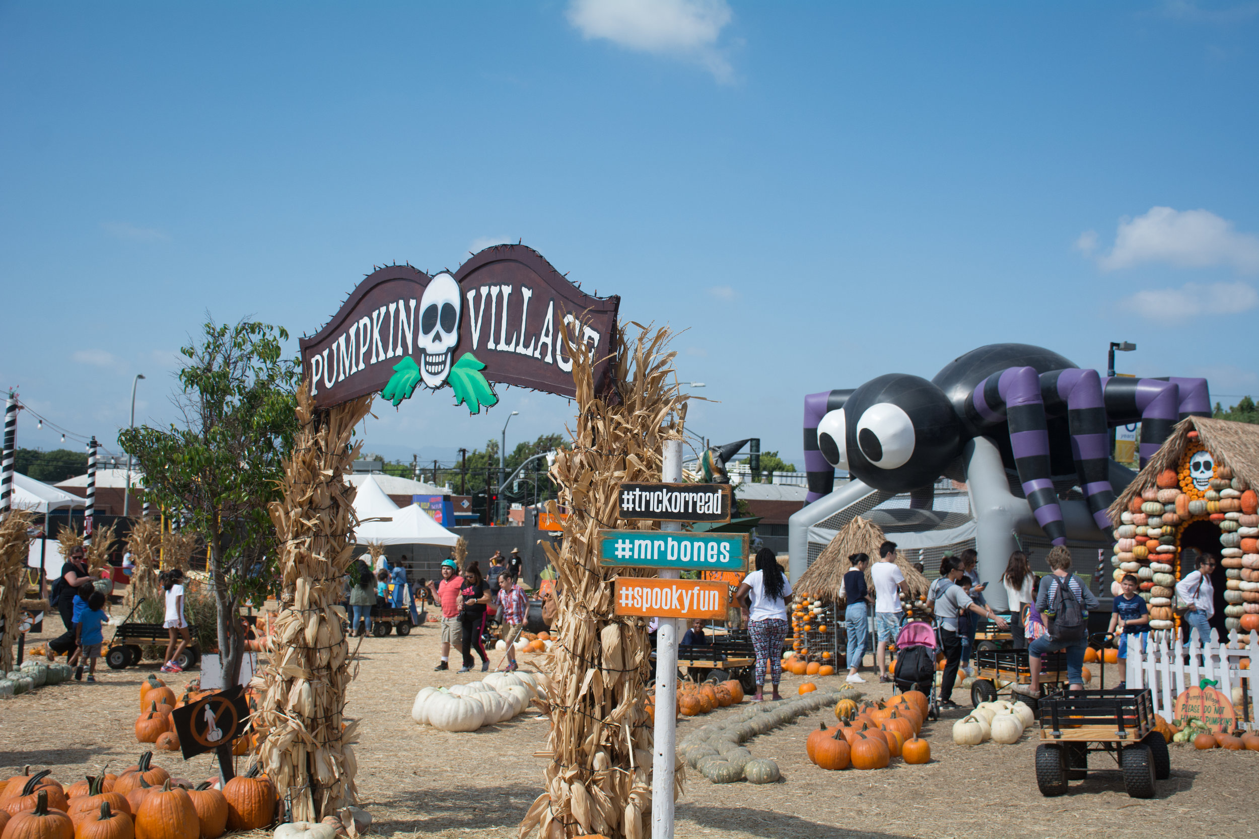 Mr.Bones' Pumpkin Village is where you will find a lot of activities from pumpkin decorating, jumping around the bouncy house, to a ton of photo ops all around this well known Mr.Bones Pumpkin Patch as you can see here on October 8th, 2019 located in Culver City,California. (Adriel Navarro, Writer/Corsair Staff)