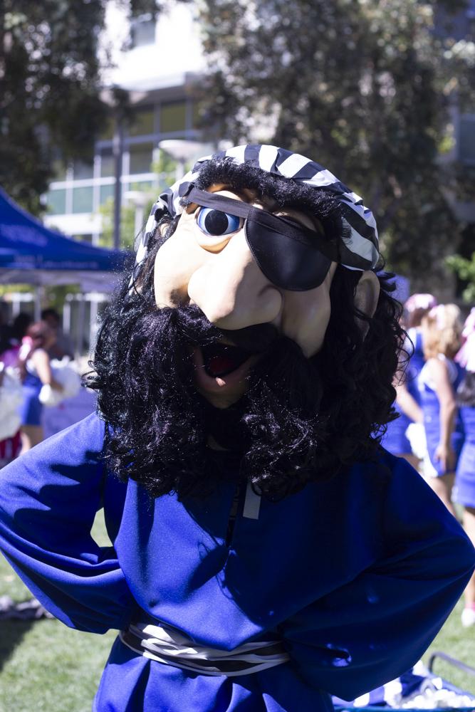 Santa Monica College mascot Pico The Pirate during Spirit Week on Tuesday October 16, 2018. (Irving Santiago/ Corsair)