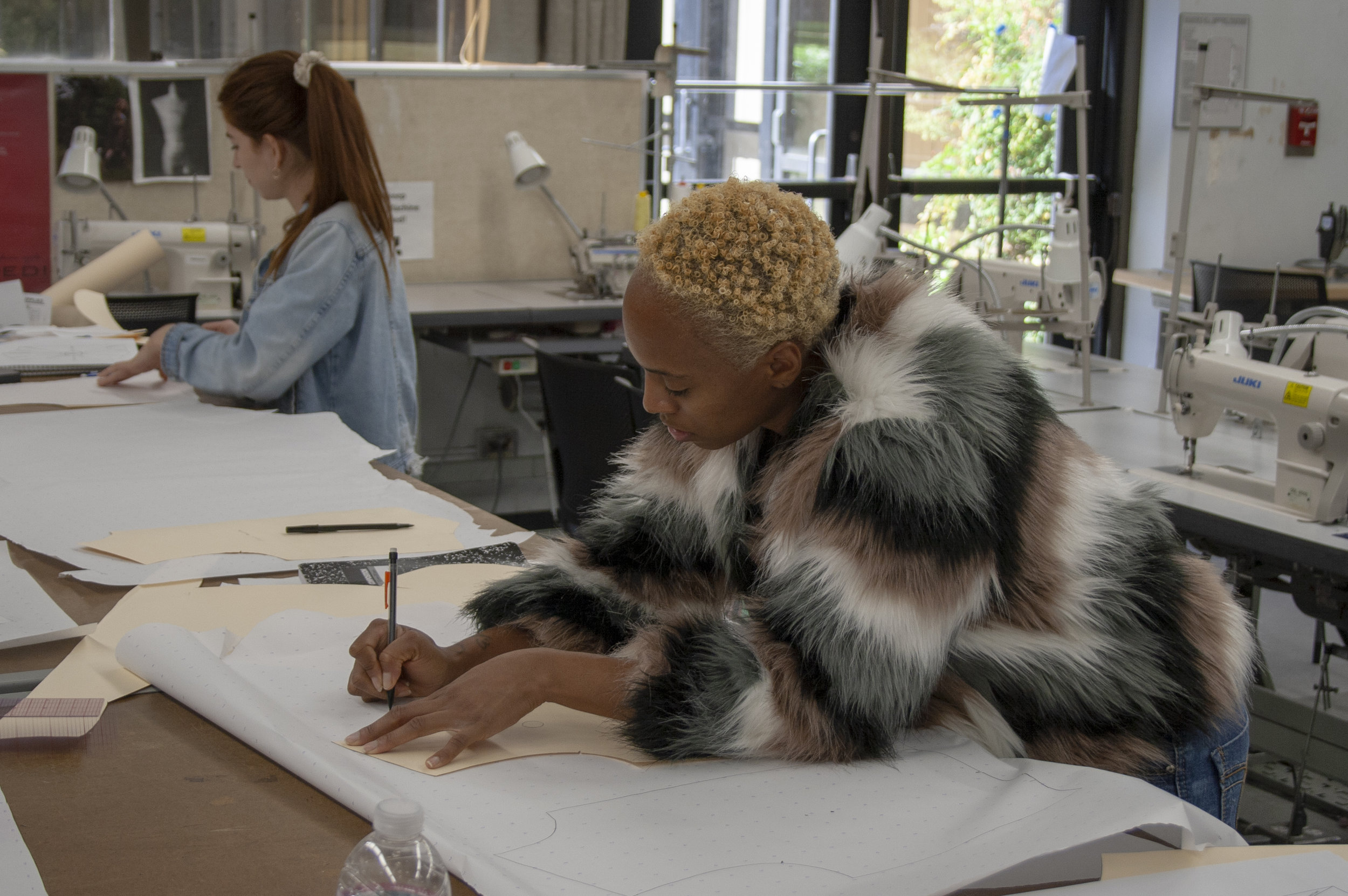 On Feburary 22, 2019 within the Fashion Department in Santa Monica College (SMC) where Porscha Woodard learns, and works on the basics of tracing.