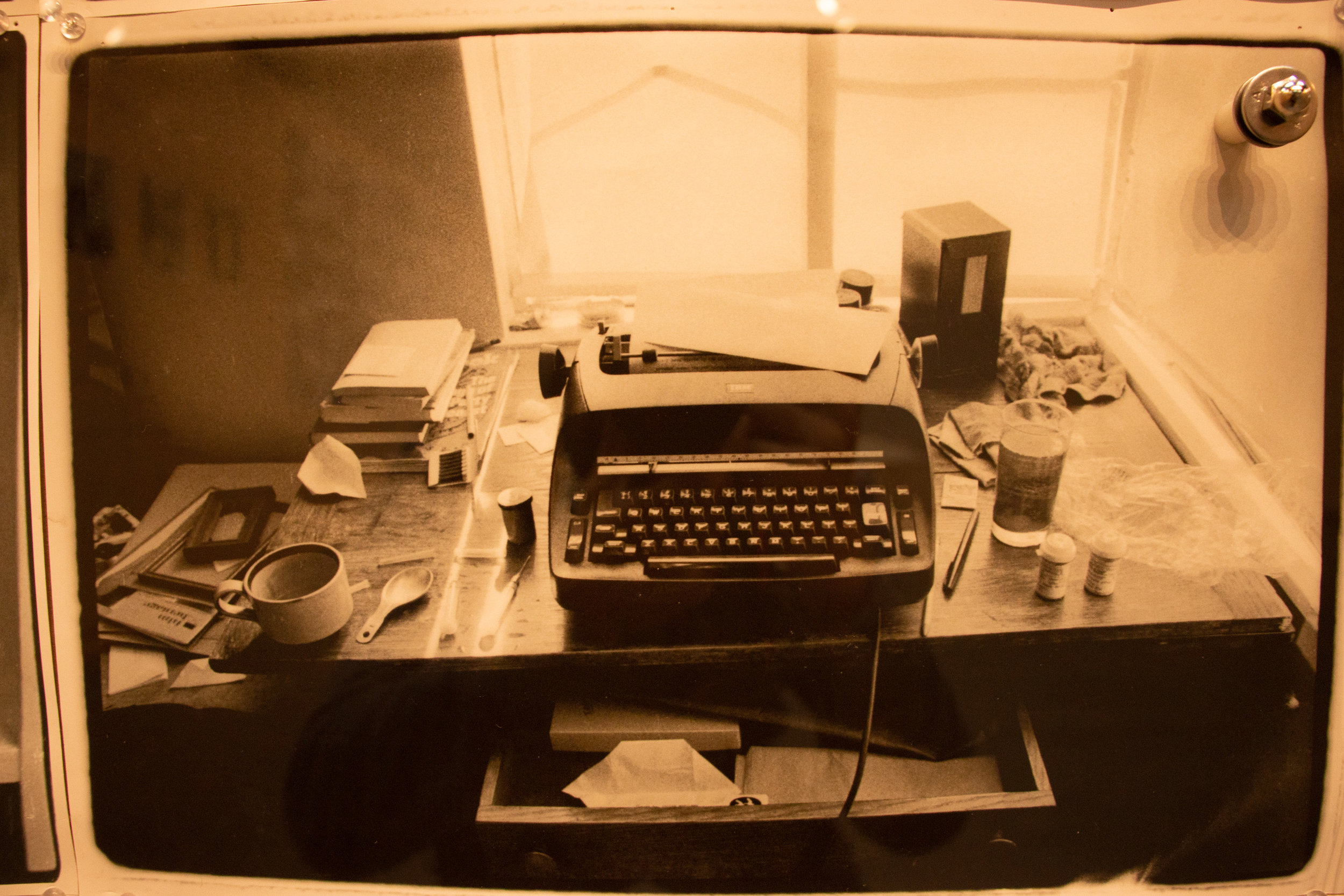 Desk & typewriter of William S. Burroughs, photographed by Annie Liebovitz. Shayn Almeida / The Corsair