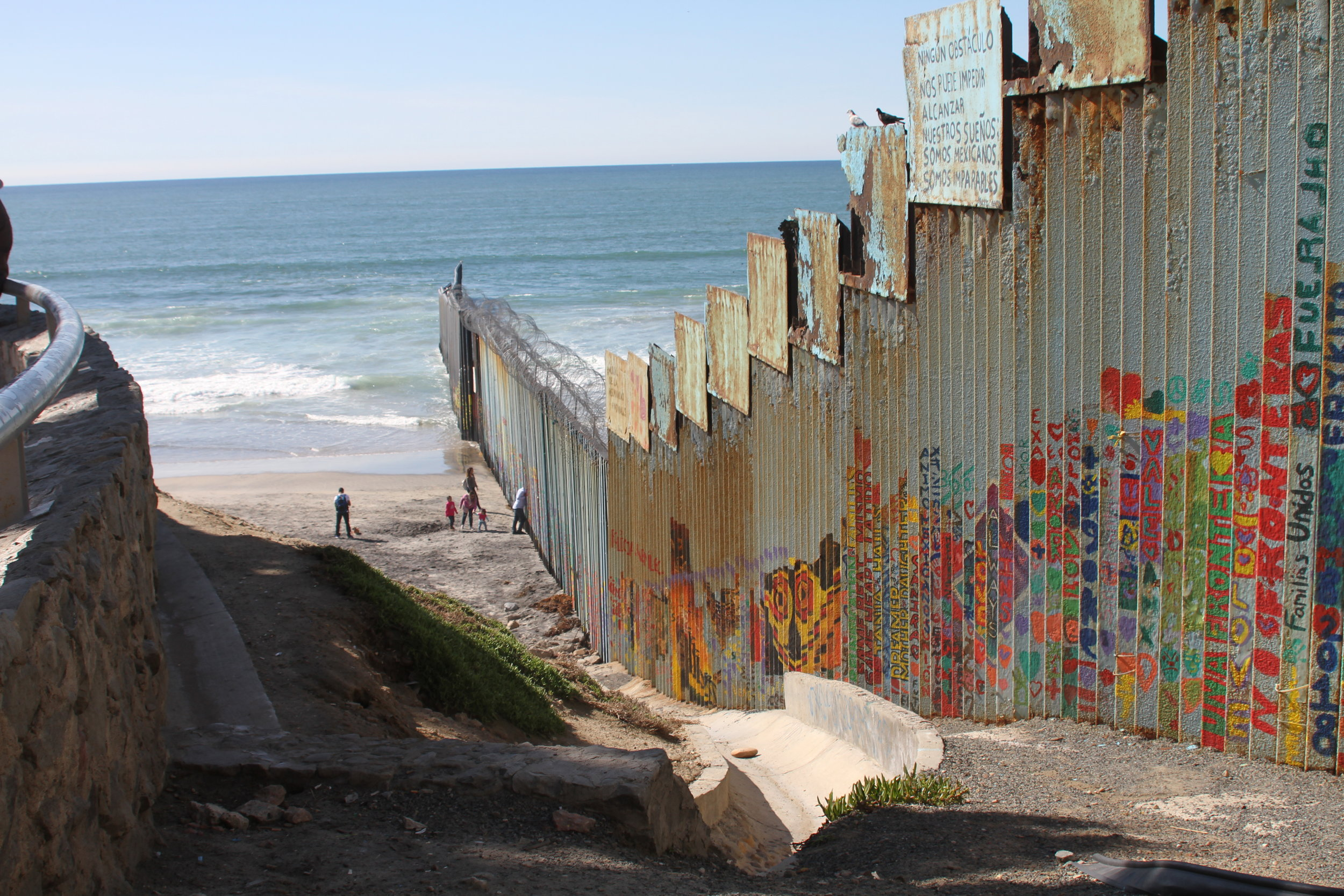 The US-Mexican border wall in Playas de Tijuana in Tijuana, Mexico on Saturday, February 23, 2018. Photo by: Ryanne Mena.