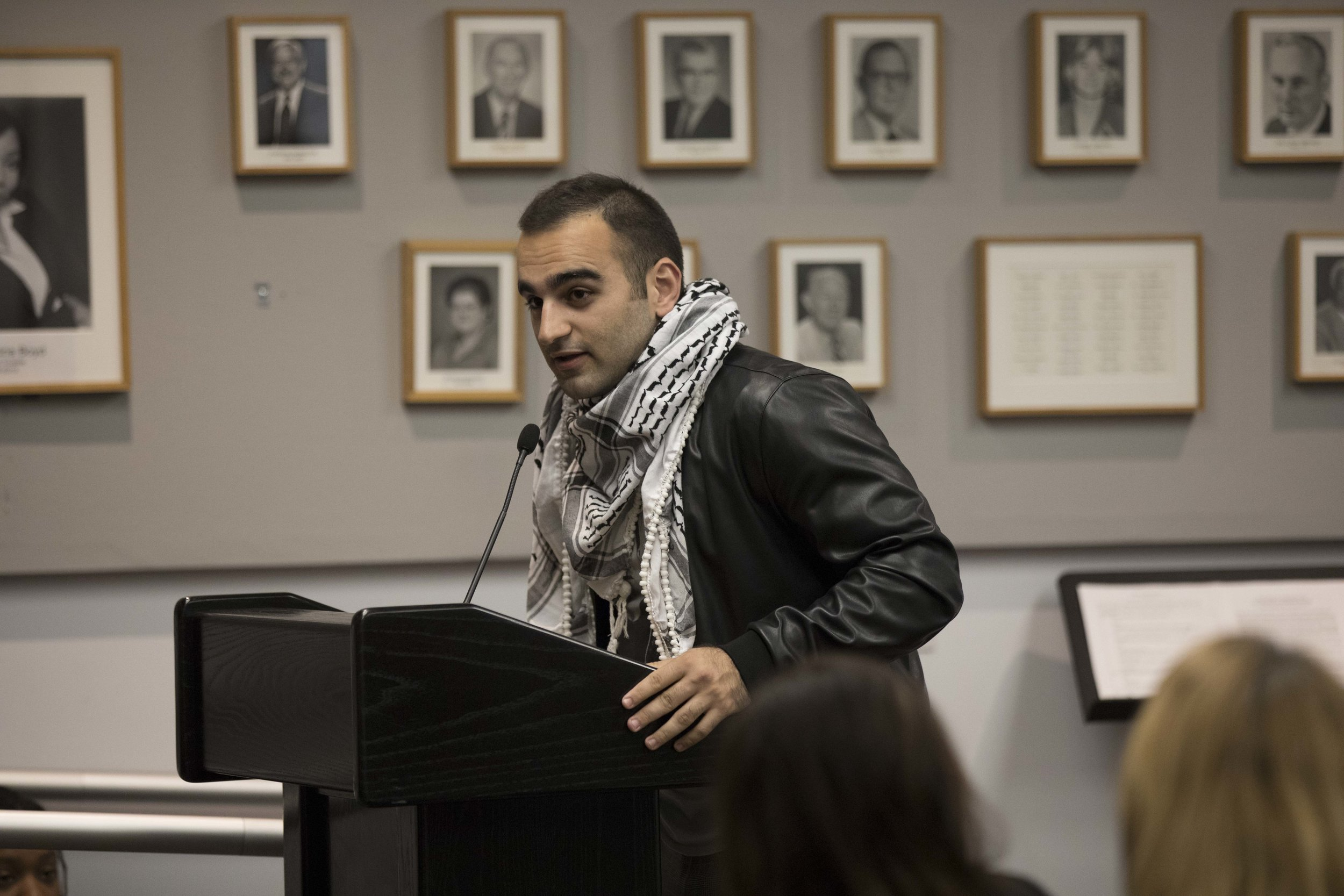 Santa Monica College student Hesham Jarmakani at the Board of Trustees Meeting at Santa Monica College in Santa Monica, California on Tuesday April 2, 2019. Photographer (Tanya Barcessat / The Corsair)