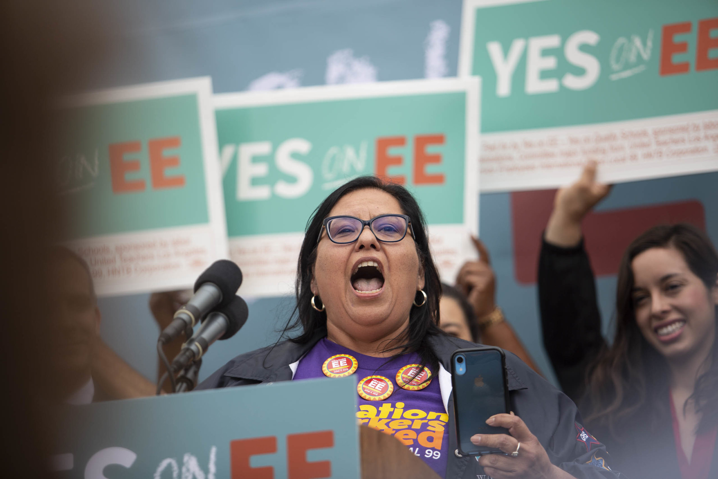 MONICA GARCIA, Los Angeles Unified School District Board of Education, during a rally in support of Mayor Pete Buttigieg for his 2020 presidential campaign on Thursday, May 9, 2019 in Los Angeles, Calif. (Yasamin Jtehrani / The Corsair)