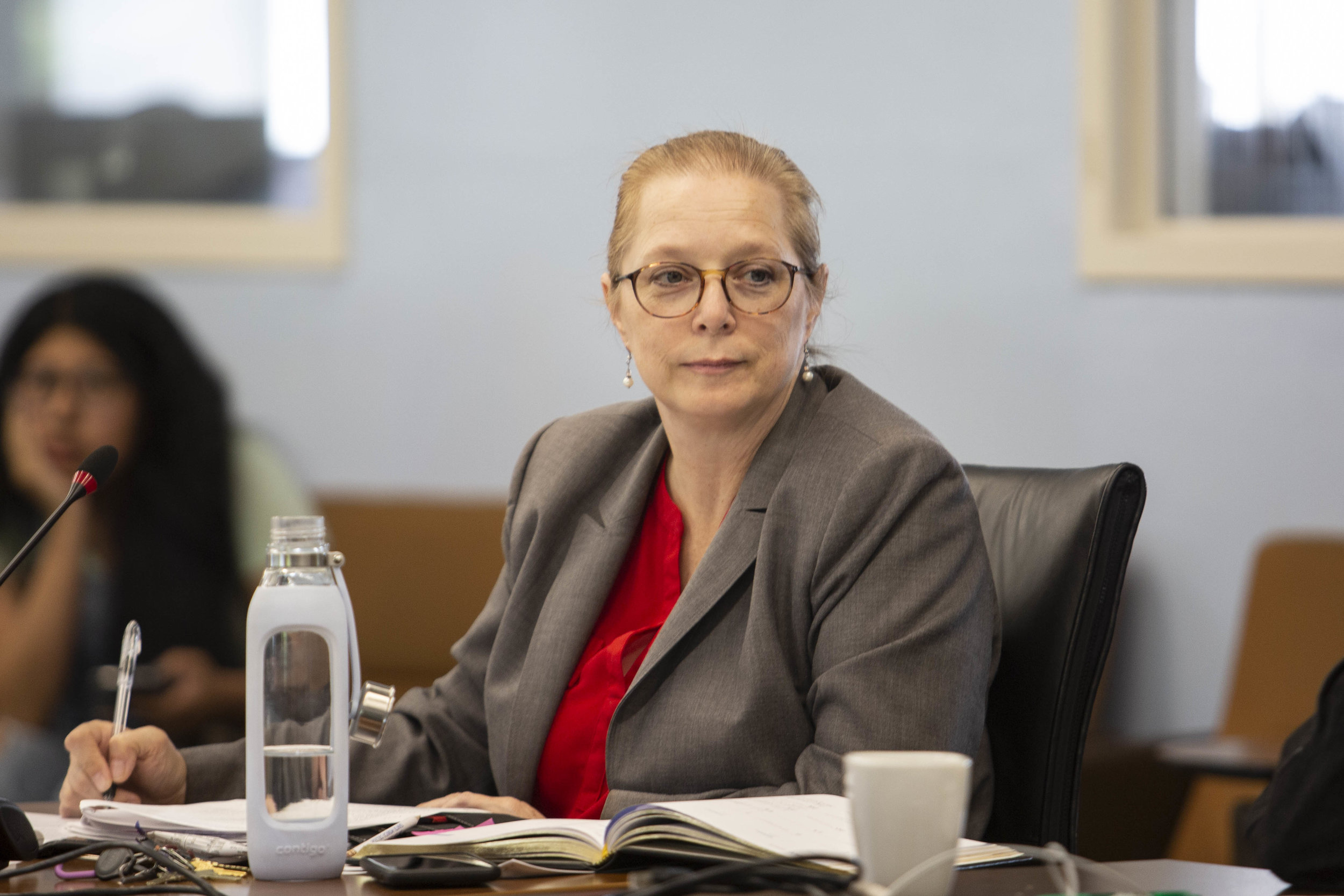 Associate Dean of Students Affairs Dr. Nancy Grass, during the Associated Students (A.S.) budget meeting on Monday May 13, 2019 at Cayton Hall, on the main Campus of Santa Monica College in Santa Monica, Calif. (Yasamin Jtehrani / The corsair
