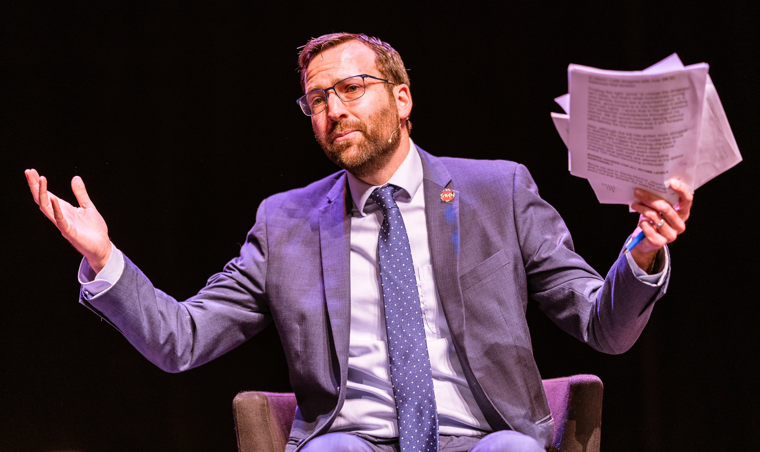 """California State Senator Ben Allen (SD26 - Santa Monica) speaks on the California Housing Crisis at """"Where Goes the Road to Solving California's Housing Crisis"""" on the SMC Broad Stage on Thursday, May 9, 2019. Senator Allen said, """"If you don't like this path [SB-50], we've got to figure out another one."""" The SMC Public Policy Institute is presenting its 8th Annual Spring Symposium, """"There Goes the Neighborhood, Part II: How might policy approaches prevent displacement in neighborhoods affected by gentrification?"""" from May 4-9. Tonight's final event in the series is """"Where Goes the Road to Solving California's Housing Crisis? A Keynote Discussion with Legislative Leaders."""" The panel includes California state legislators Senator Ben Allen (SD26 – Santa Monica) and Senator Scott Weiner (SD11 – San Francisco), author of SB 50 which proposes bold approaches to California's housing issues, and Santa Monica Mayor Gleam Davis, a former Co-Chair of Santa Monicans for Renters' Rights and leading advocate for Santa Monica's innovative policy solutions and funding for affordable housing."""" (Glenn Zucman/The Corsair)"""