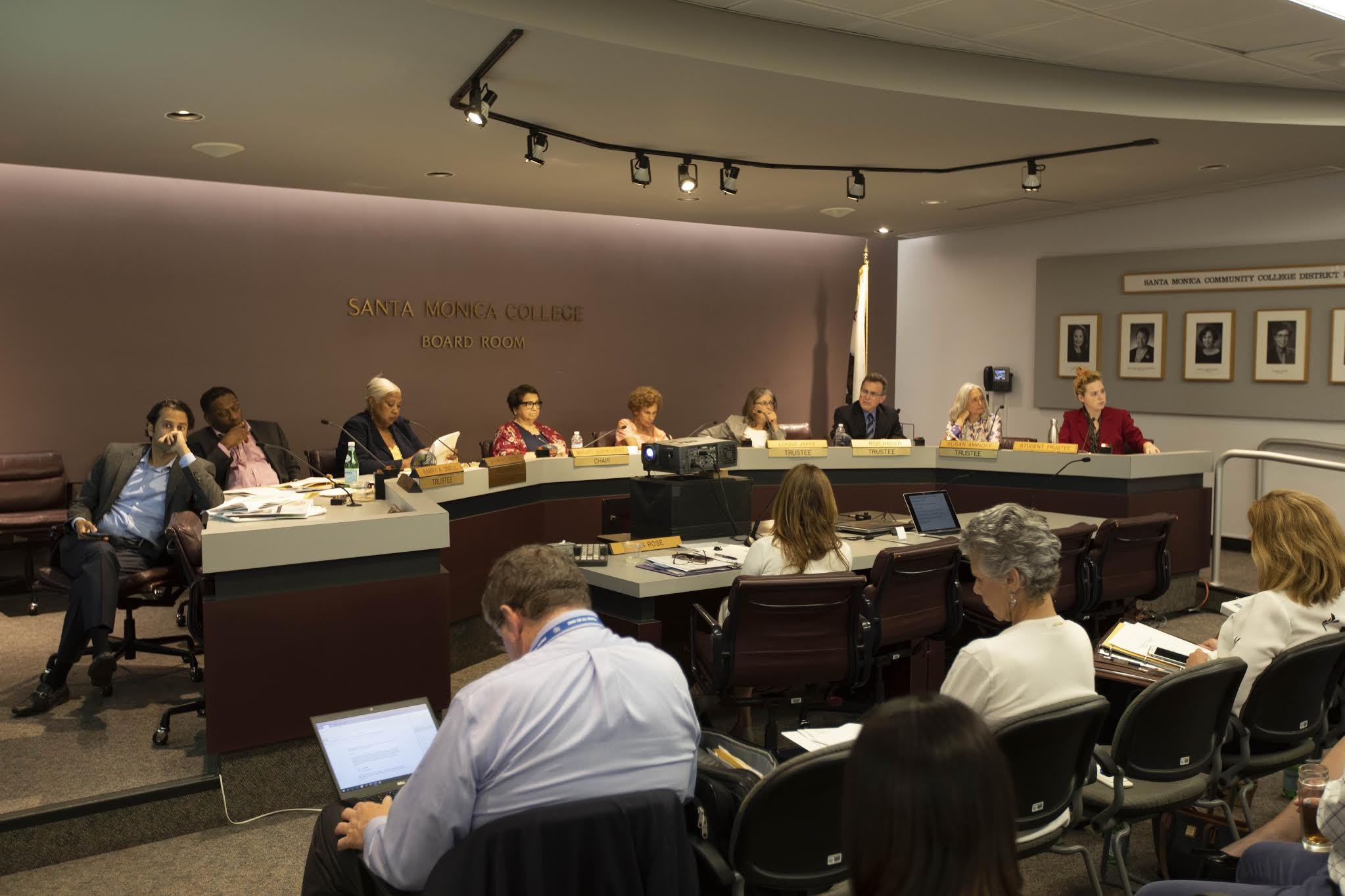SMC Board of Trustees review the proposed 2019 - 2020 budget during the September 3rd meeting at Santa Monica College in Santa Monica Calif. (Joshua Nicoloro/The Corsair)