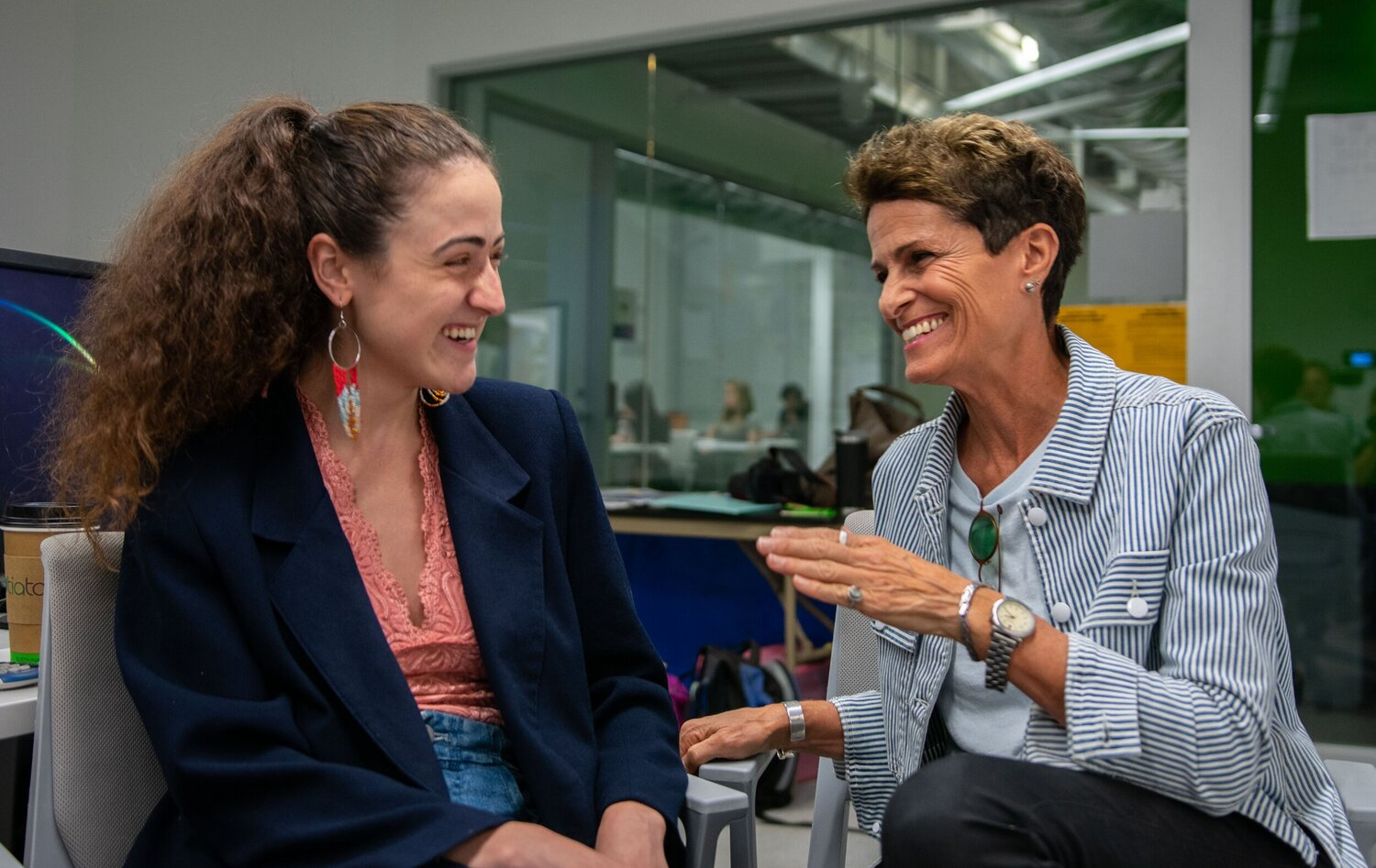 Director Liz Lachman shares her enthusiasm for all things creative with  The Corsair  Culture Editor Jackie Sedley.  (Conner Savage/The Corsair).