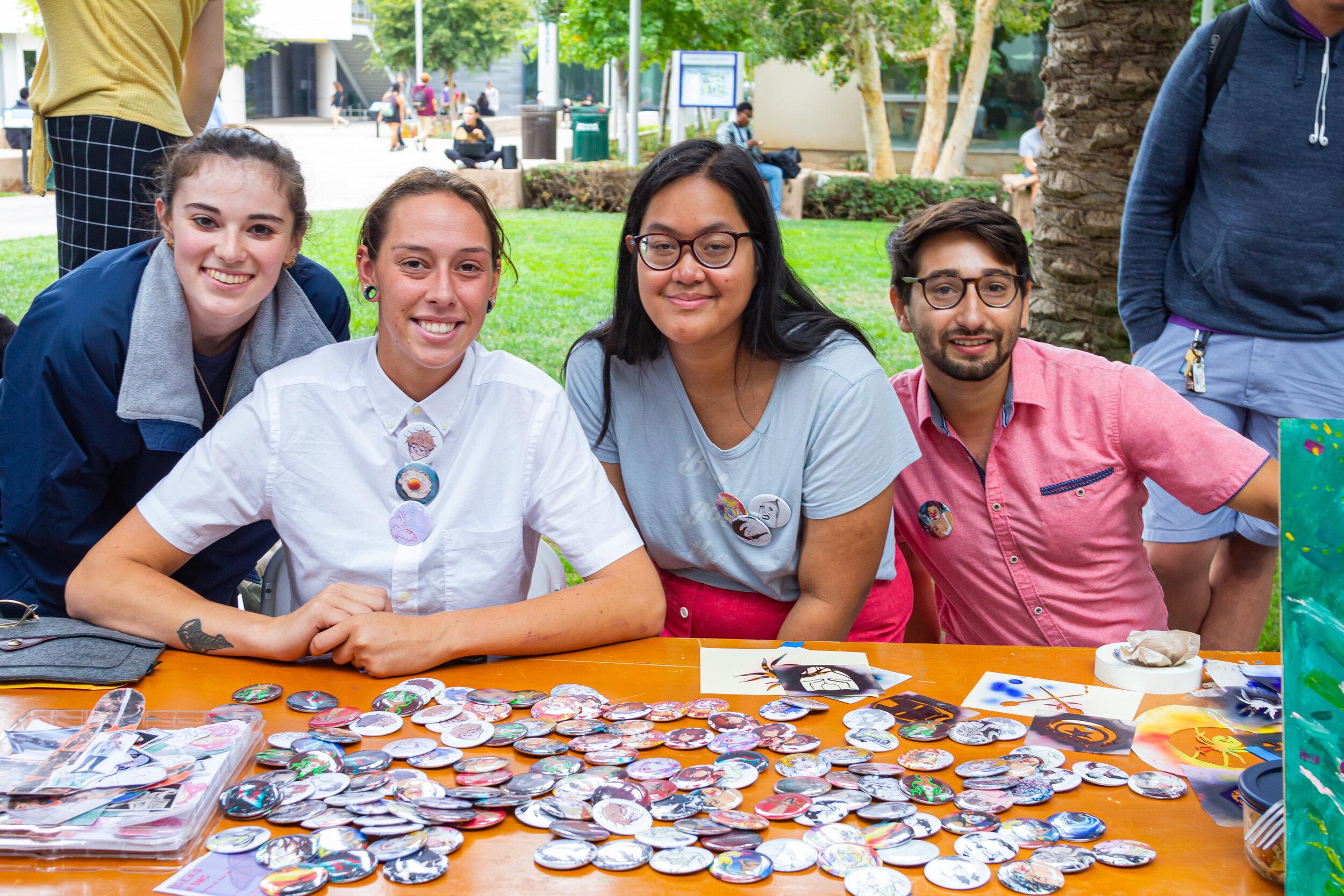 Students celebrate the Santa Monica College (SMC) Club Fair on the SMC main campus, in Santa Monica, Calif. on Thursday, September 26th 2019. (Marco Pallotti/The Corsair)