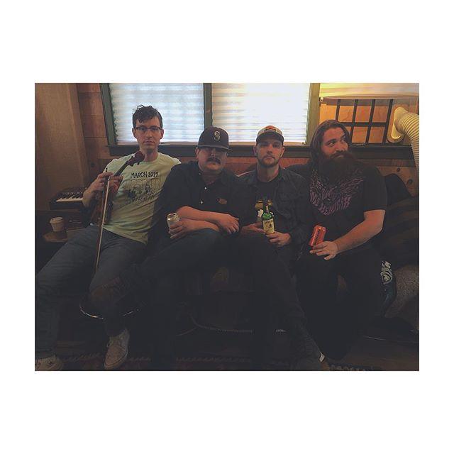 New band photo! @joelhoyer's joining the band on didjeridoo ✨