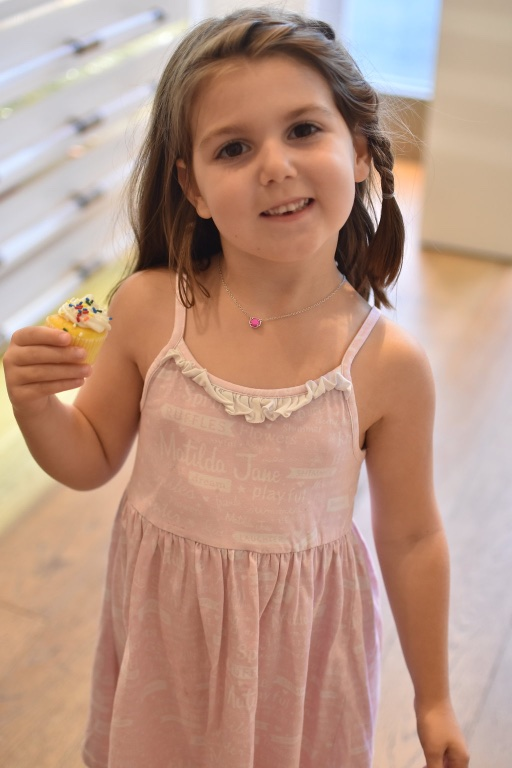 She designed her own necklace and loved it!