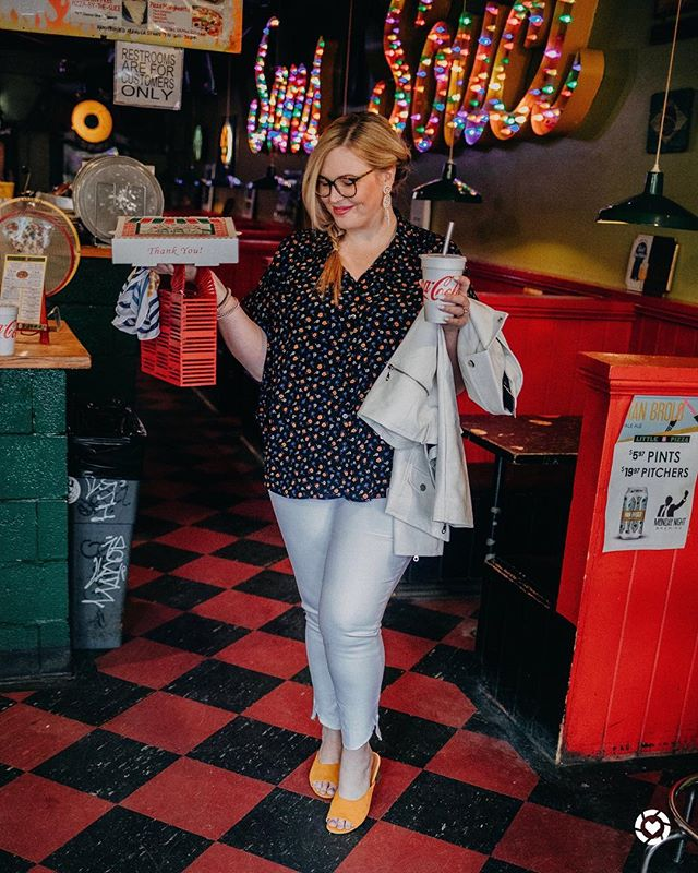 somebody order a 🍕? . . Seriously, pizza is my favorite meal and always has been. What's your fave kind?! Are you a classic pep and cheese gal or do you load it up?! Size info: 20 in jeans, XXL on top and 18 in jacket.  http://liketk.it/2AQwW #liketkit @liketoknow.it #LTKcurves #LTKshoecrush #LTKsalealert #LTKunder50 #LTKstyletip #everydaymadewell #goodsquad #xoq