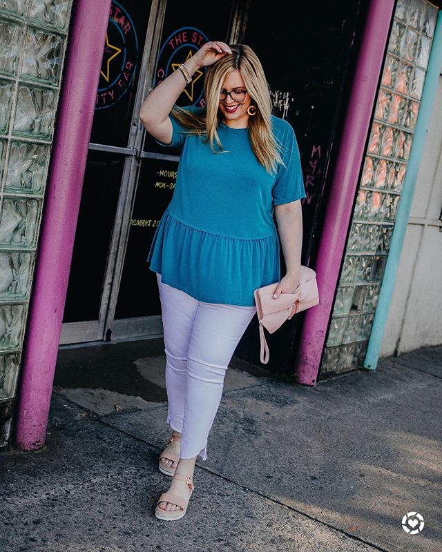 BEST. T-SHIRT. EVER. Comes in tons of colors, standard, plus and maternity, AND it's 20% off all weekend long! The fabric is amazing and I'm wearing a 2X (it's a little big on me so I would size down). Get it while it's gooood ✌🏼 Shop my daily looks by following me on the @liketoknow.it app or in my insta shop on houseofdorough.com! http://liketk.it/2AXS2 #liketkit #LTKcurves #LTKunder50 #casualootd