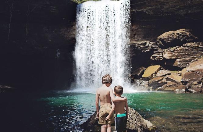 Jenny's boys at Greeter Falls, TN