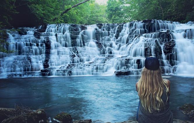 Jenny at Rutledge Falls, TN