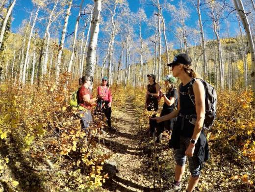 Girls Who Hike Colorado and Girls Who Hike Colorado and Girls Who Hike Utah group hike in Steamboat Springs, Colorado