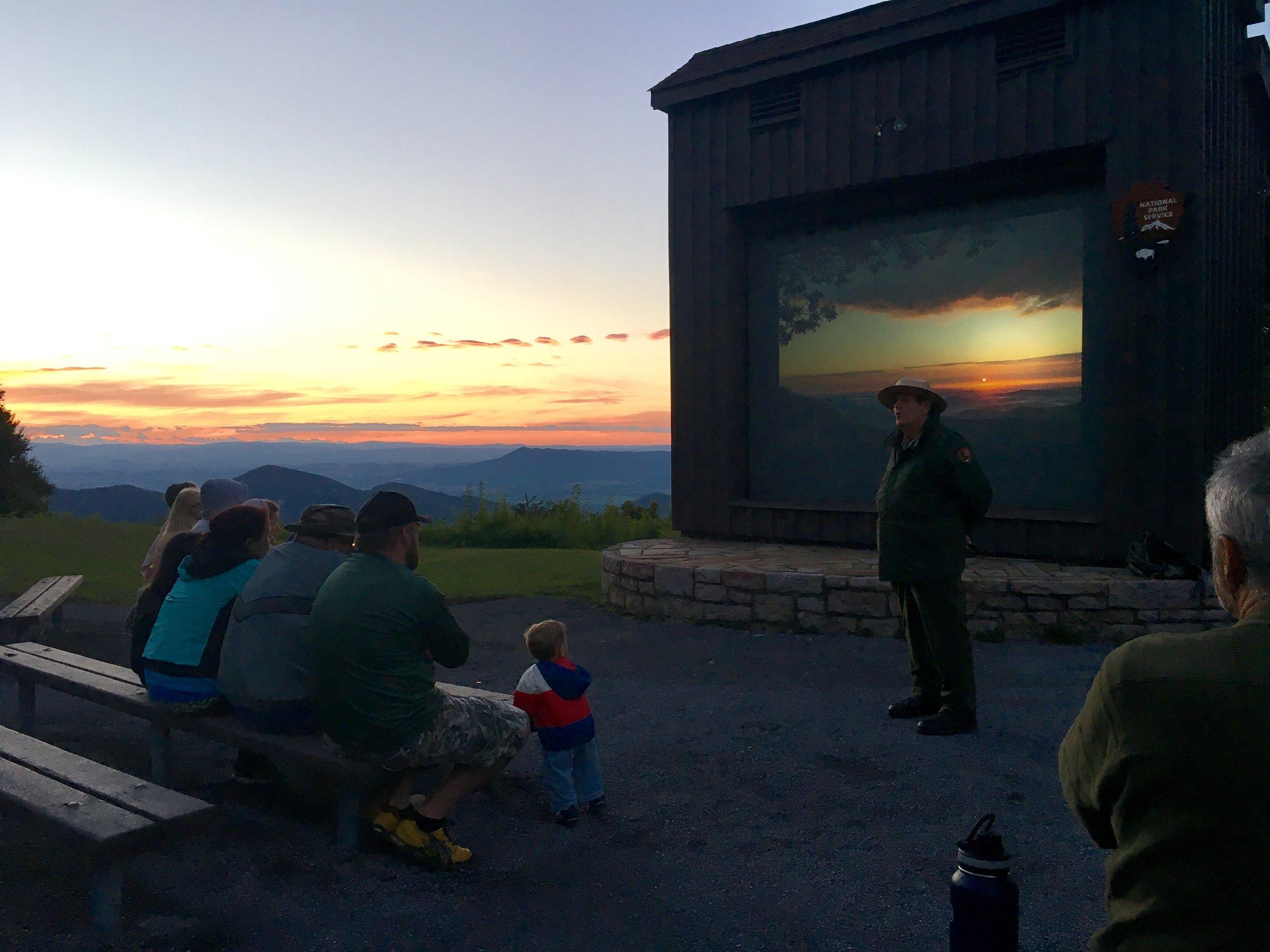 A ranger talk in Shenandoah National Park