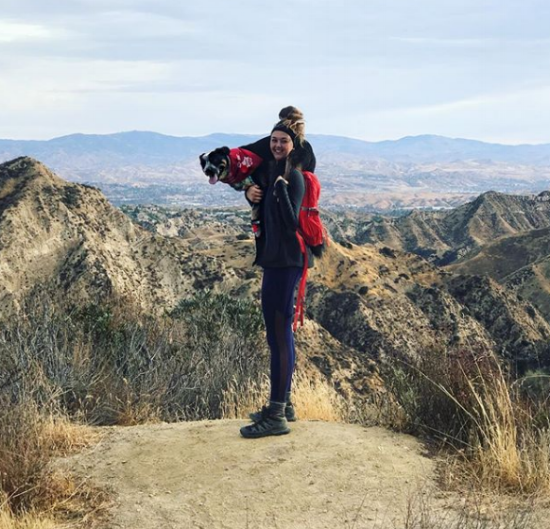Girls Who Hike Los Angeles Ambassador Mia Svenson and her adventure pup, Wes